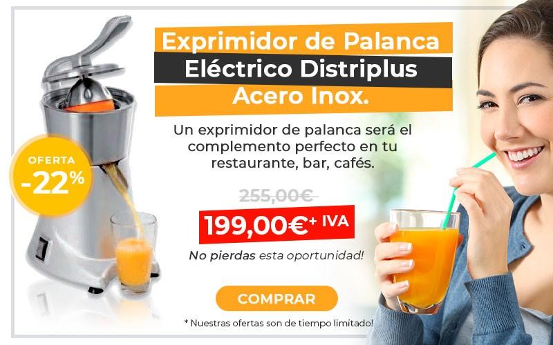 Exprimidor de Palanca eléctrico Acero Inoxidable marca Distriplus
